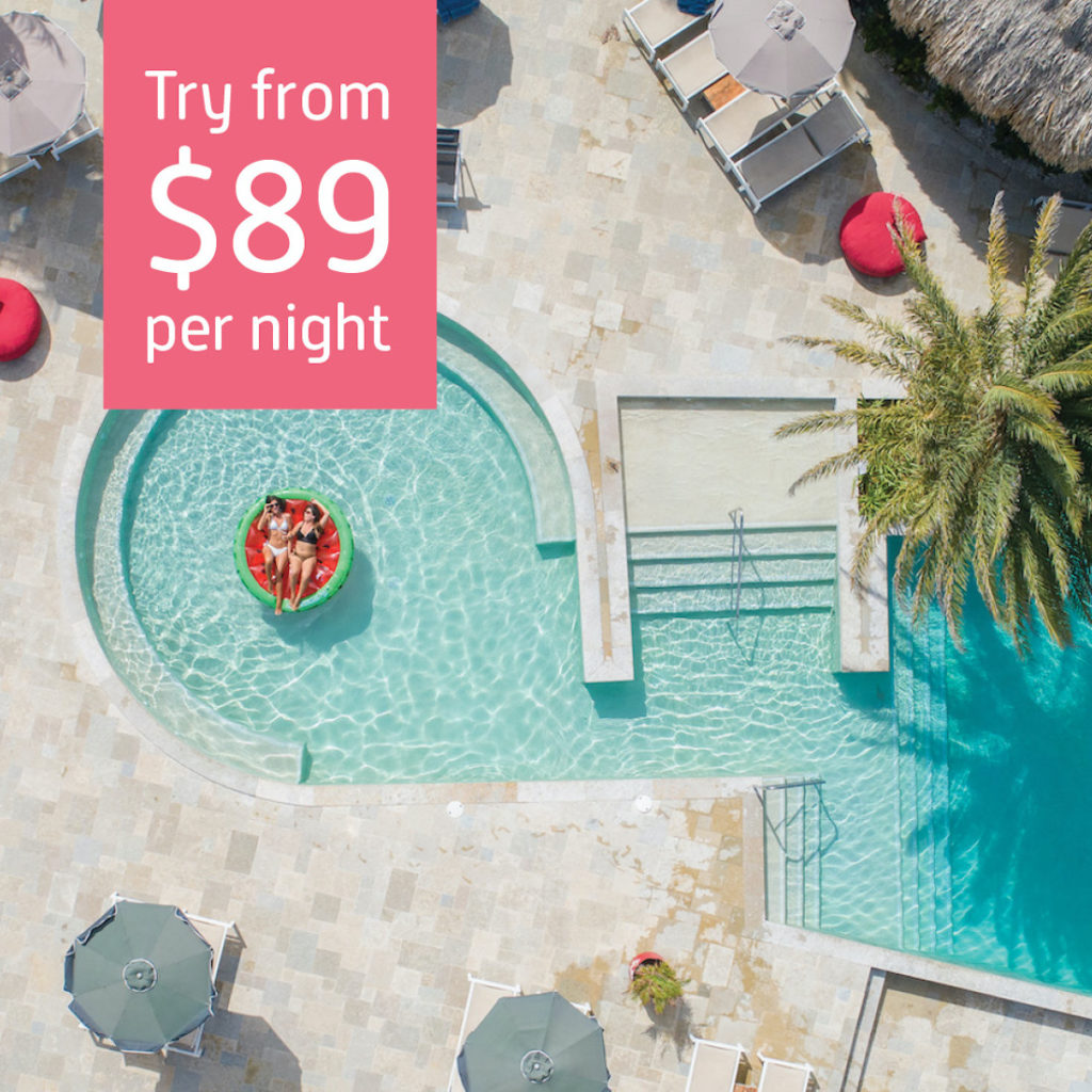 Local stay deal Coral Estate Luxury Resort from $89 per night.
